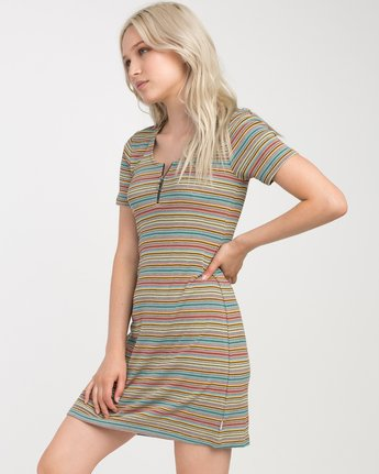 1 Zip It Ribbed Dress Multicolor WD05NRZP RVCA
