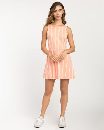 4 Peony Striped Dress Pink WD05PRPE RVCA
