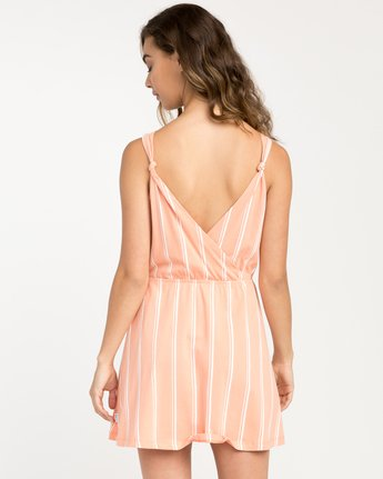 2 Peony Striped Dress Pink WD05PRPE RVCA