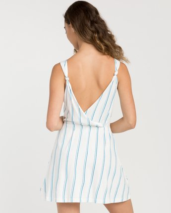 2 Peony Striped Dress White WD05PRPE RVCA