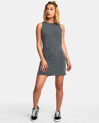 4 Dime A Dozen Ribbed Tank Dress Blue WD05WRDI RVCA
