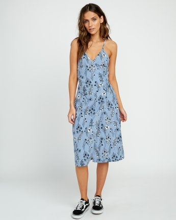 4 Kioko Floral Midi Wrap Dress  WD06URKI RVCA