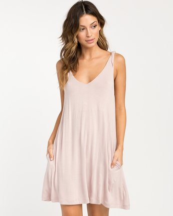 0 Chances Knit Tank Dress Grey WD07NRCH RVCA