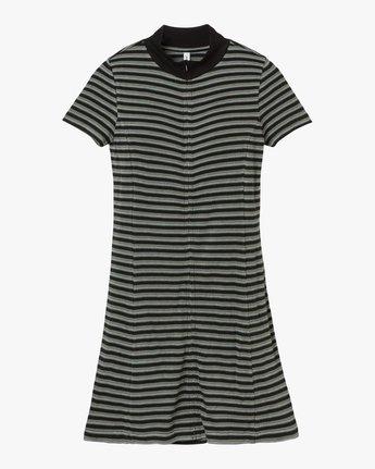 6 Shaw Striped Mock Neck Dress Black WD07QRSH RVCA