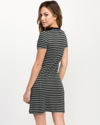 3 Shaw Striped Mock Neck Dress Black WD07QRSH RVCA