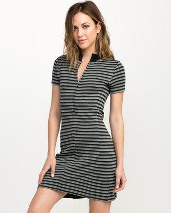 2 Shaw Striped Mock Neck Dress Black WD07QRSH RVCA