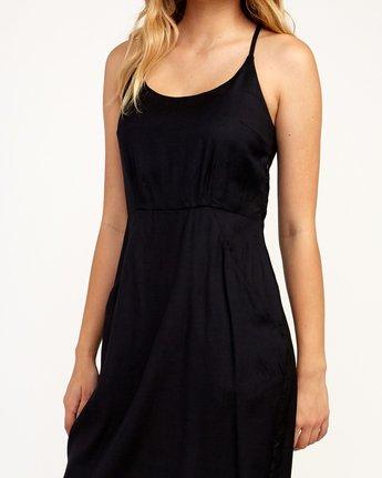 4 Cece Woven Midi Dress Black WD07TRCE RVCA