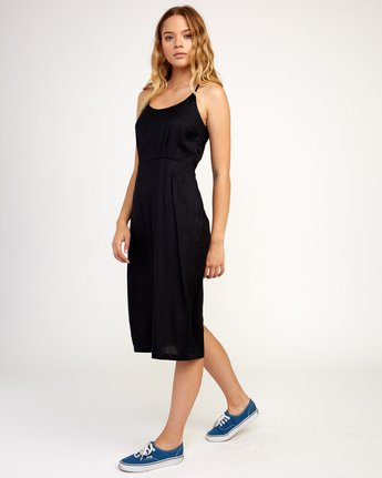2 Cece Woven Midi Dress Black WD07TRCE RVCA