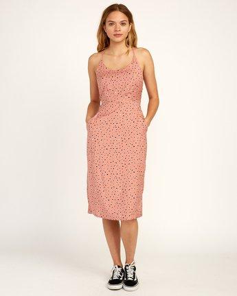 1 Cece Woven Midi Dress Brown WD07TRCE RVCA
