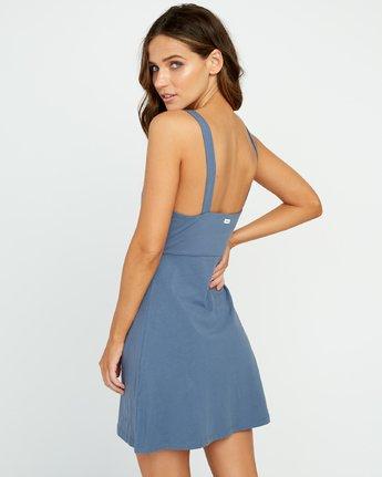 2 All Talk Knit Dress Blue WD07URAL RVCA