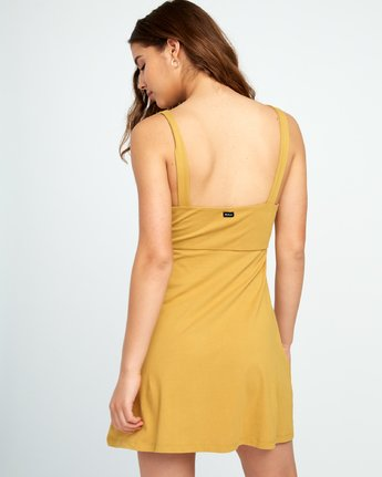 2 All Talk Knit Dress Yellow WD07URAL RVCA