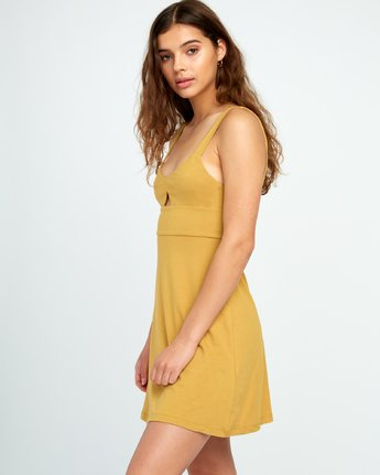1 All Talk Knit Dress Yellow WD07URAL RVCA