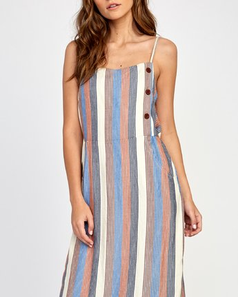 3 Proxy Striped Midi Dress  WD07VRPR RVCA