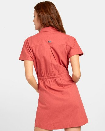 3 EDUCATE SHIRT DRESS Red WD081RED RVCA