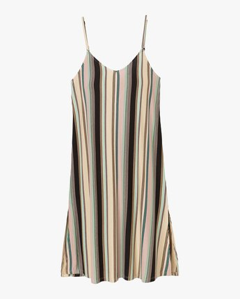 4 Jasmine Striped Midi Dress Beige WD08PRJA RVCA
