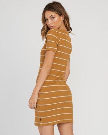 2 Donner Striped Knit Dress Yellow WD08SRDO RVCA