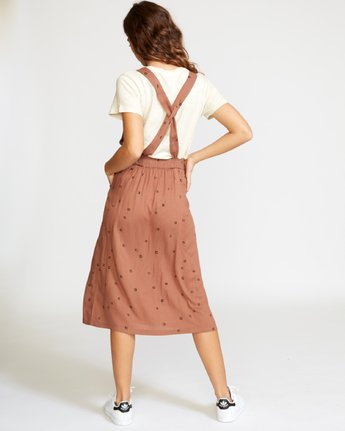 2 Sycamore Apron Midi Dress Brown WD08VRSY RVCA