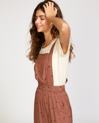 1 Sycamore Apron Midi Dress Brown WD08VRSY RVCA