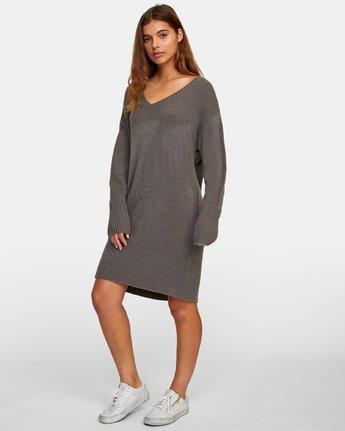 5 Quartz Sweater Dress Grey WD08WRQU RVCA
