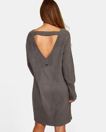 3 Quartz Sweater Dress Grey WD08WRQU RVCA
