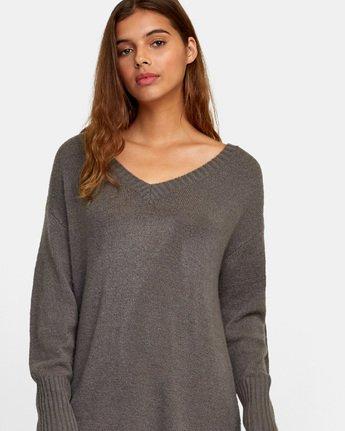 4 Quartz Sweater Dress Grey WD08WRQU RVCA