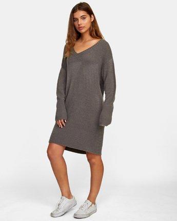 2 Quartz Sweater Dress Grey WD08WRQU RVCA