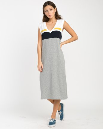 3 Scorekeeper Midi Dress Grey WD09NRSC RVCA