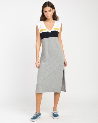 0 Scorekeeper Midi Dress Grey WD09NRSC RVCA