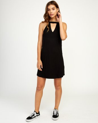 4 Brandy Knit Dress Black WD09TRBR RVCA