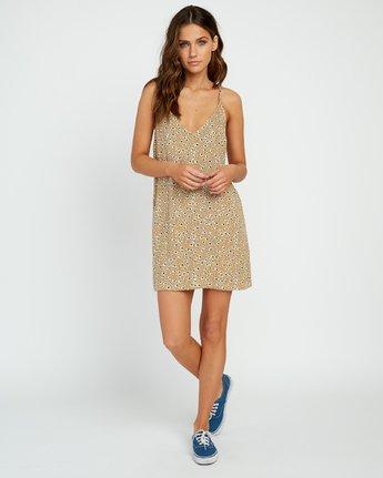 4 Fluke Printed Dress Yellow WD09URFL RVCA