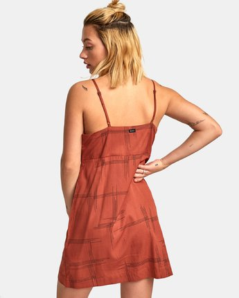 2 Capital Knot Tank Dress Red WD09WRCA RVCA