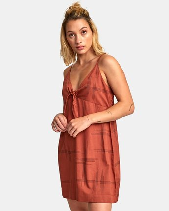 1 Capital Knot Tank Dress Red WD09WRCA RVCA