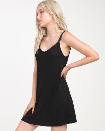 1 Switchback Knit Tank Dress Black WD10NRSW RVCA