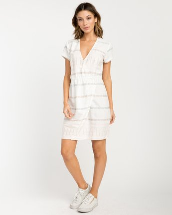 4 Rose Striped Wrap Dress  WD10PRRO RVCA