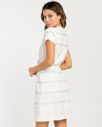 2 Rose Striped Wrap Dress  WD10PRRO RVCA