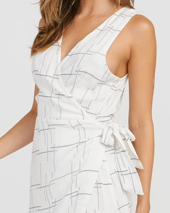 3 Crossed Off Wrap Dress White WD10SRCR RVCA