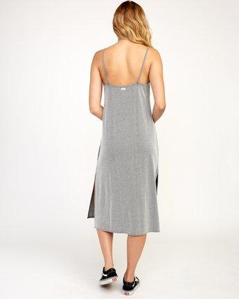 4 Layla Knit Midi Dress Black WD10TRLA RVCA