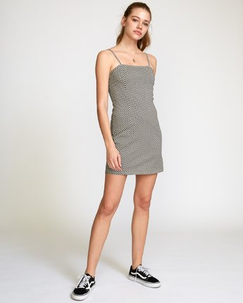 5 Mosaic Knit Tank Dress Beige WD10VRMO RVCA