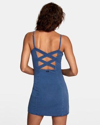 3 Mosaic Knit Tank Dress Blue WD10VRMO RVCA