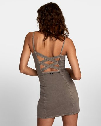 3 Mosaic Knit Tank Dress Grey WD10VRMO RVCA