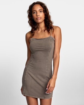 rvca, Mosaic Knit Tank Dress, IRON (iro)