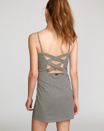 3 Mosaic Knit Tank Dress Beige WD10VRMO RVCA