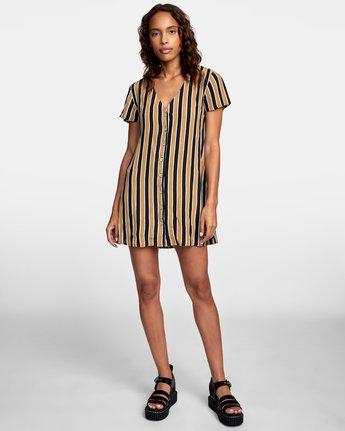 1 Pebble Button-Up Dress Black WD10VRPE RVCA