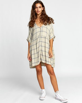 1 MYSTERIOUS DRESS Brown WD112RMY RVCA