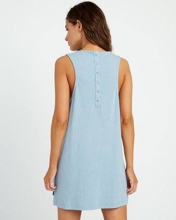 2 On The Fence Shift Dress Blue WD11URON RVCA