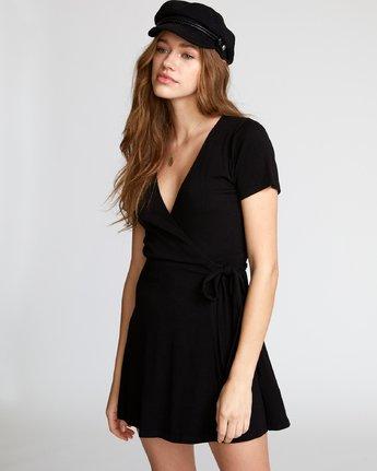 1 Slater Wrap Dress Black WD11VRSL RVCA
