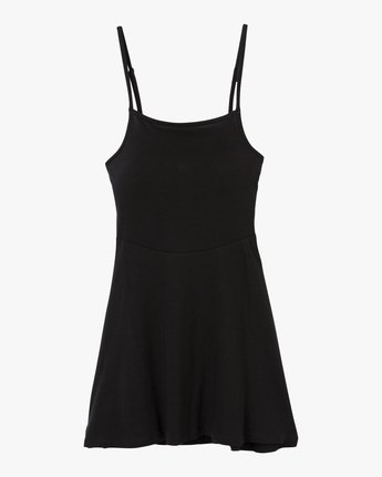 4 Dewdrop Tank Dress Black WD12PRDE RVCA