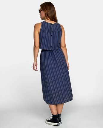 3 MOCHA DRESS Blue WD132RMO RVCA