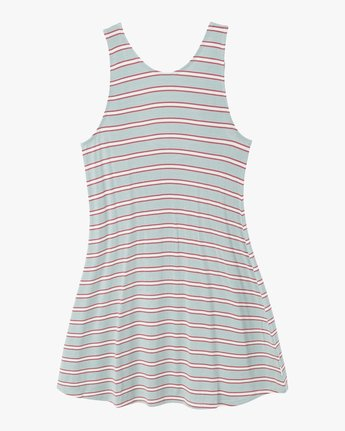 6 Lost Lane Striped Swing Dress Blue WD13PRLO RVCA