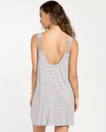 3 Lost Lane Striped Swing Dress Blue WD13PRLO RVCA